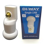 DI-WAY LNB SINGLE 0,1 dB, WHITE LEOPARD LINE