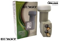 DI-WAY LNB TWIN 0,1dB Gold F konektory