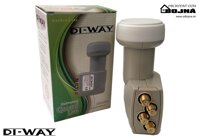 DI-WAY LNB QUAD 0,1dB Gold F konektory