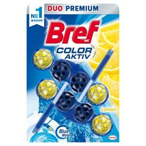 Bref Color Aktiv Lemon tuhý WC blok 2 x 50 g