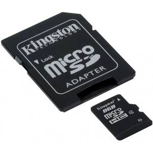 KINGSTON MicroSD Card HC 8GB CL4 +adapter