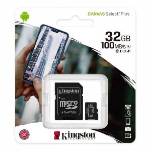 KINGSTON Canvas SELECT Plus Micro SDHC 32GB Class 10 UHS-I s adaptérom (SDCS2/32GB)