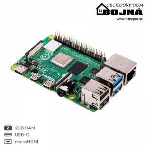 RASPBERRY Pi 4 Model B 2GB/WiFi/Bluetooth 5.0/1000Mbps