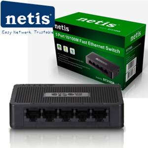 NETIS ST3105S Switch 5-Port/10/100Mbps/Desk