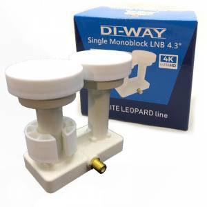 DI-WAY LNB MONO SINGLE 0,1dB 4,3st, WHITE LEOPARD LINE