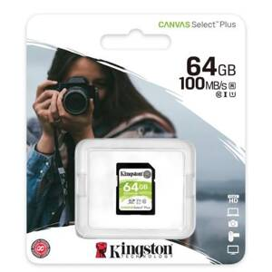 KINGSTON SDXC Canvas Select Plus 64GB 100MB/s UHS